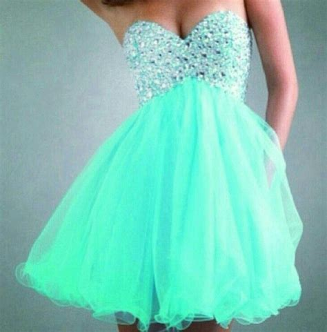 Turquoise short puffy dress   Fashion   Pinterest
