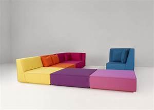 Pouf De Canapé : canap modulable multicolore ~ Teatrodelosmanantiales.com Idées de Décoration