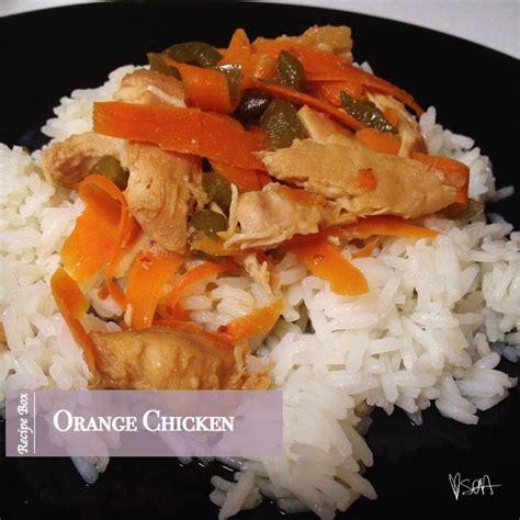 recipe box orange chicken soa inspired