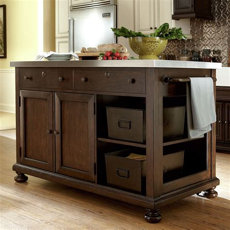 kitchen islands stainless steel stainless steel top rolling kitchen island endearing 6 5266