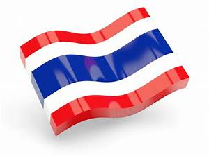 Glossy wave icon. Illustration of flag of Thailand