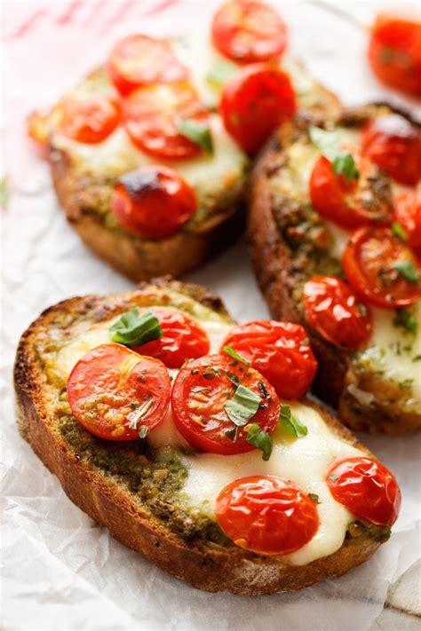 bruschetta  la mozzarella recette recettes de cuisine