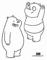Bears Bare Coloring Bear Cartoon Printables Worksheets sketch template