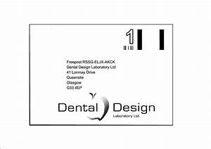 cosmetic dentistry laboratory in glasgow scotland With freepost label