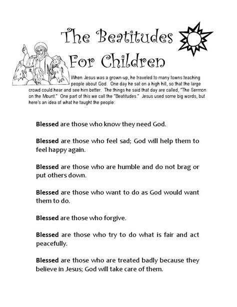 the beatitudes for preschoolers beatitudes for matttroy 470