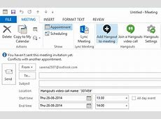 Google Hangouts plugin for Microsoft Outlook