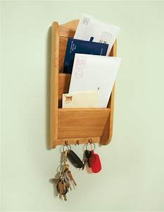 wooden letter rack holder 3 tier organizer storage office With letter mail holder