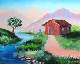 Easy Mountain Landscape Paintings