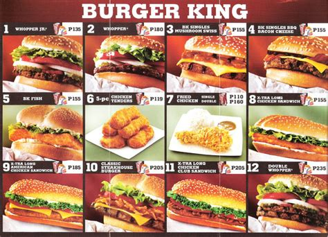 sofa king burger menu burger king le roi du burger 224