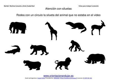 trabajamos en clase nuestro video de siluetas de animales
