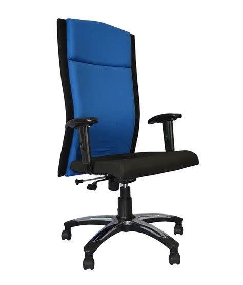 trendy blue high back chair adj arm rest snapdeal price