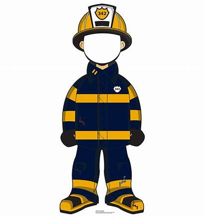 Fireman Cartoon Cutout Cardboard Stand Firefighter Standup