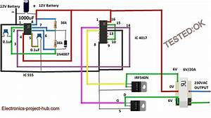 Modified Sine Wave Inverter Circuit  U2013 Diy Electronics Projects