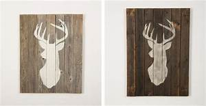 Stag on Reclaimed Wood Jane