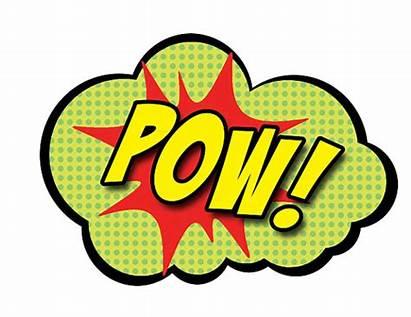 Superhero Props Bubbles Party Comic Clipart Words
