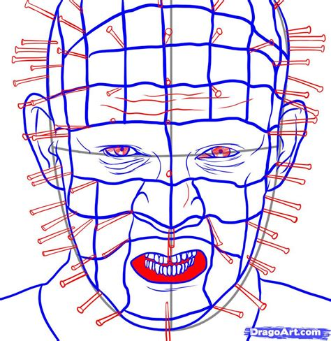 How To Draw Pinhead, Step By Step, Movies, Pop Culture