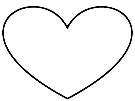 heart outline stencil  images  clkercom vector
