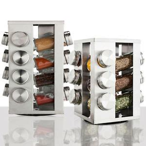 Revolving Spice Rack With 16 Spices by Rotating Spice Rack Stainless Steel 12 16 Glass Jar