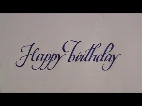 write  cursive calligraphy letters happy