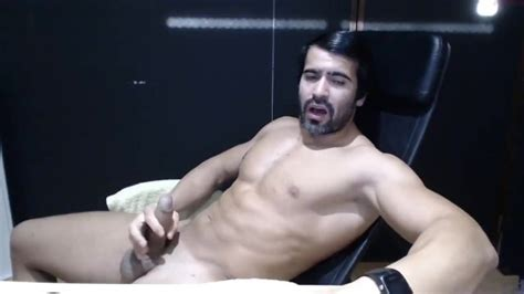 Big Cock Latino Strips And Cums In Office