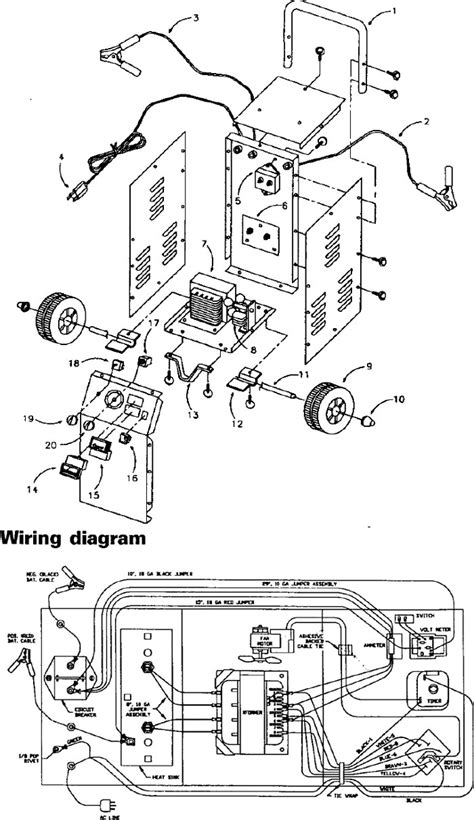 sears  amp manual battery charger