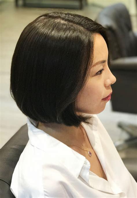 short hair cut  curl perm  wiz korean hair salon