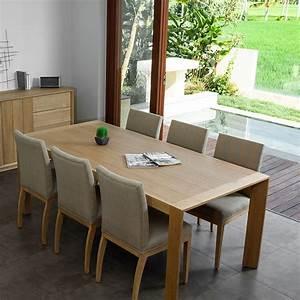 Solde Table A Manger : table de salle manger kubico 200cm ch ne massif ~ Teatrodelosmanantiales.com Idées de Décoration