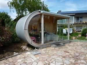 Gartenhaus Design Flachdach : kleines rundes design gartenhaus bei freiburg werner ettwein gmbh ~ Sanjose-hotels-ca.com Haus und Dekorationen