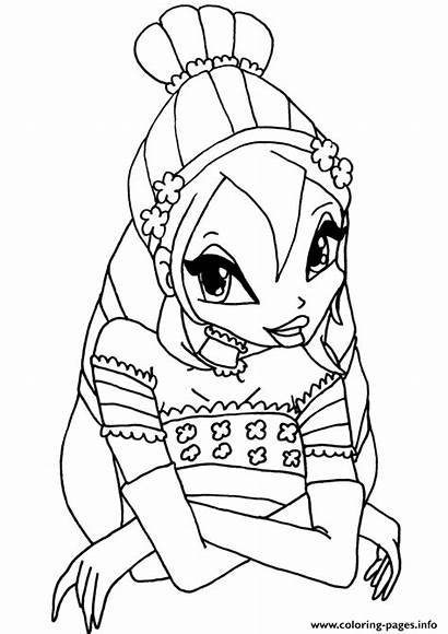 Winx Club Coloring Bloom Pages Printable Info