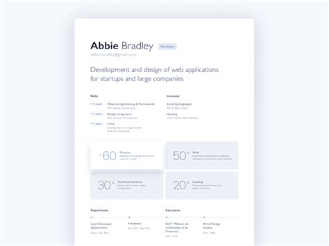 Resume Html by New To Design
