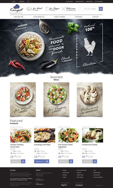 cuisine site 30 creative web designs concepts 2014 web graphic