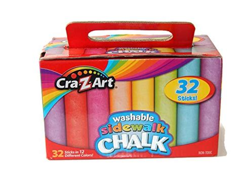 Cra-z-art Washable Sidewalk Chalk, 32 Sticks Office