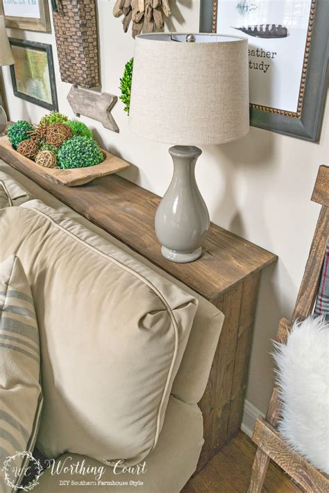 homemade sofa table one more problem solved in my family room how to build a farmhouse sofa table worthing court
