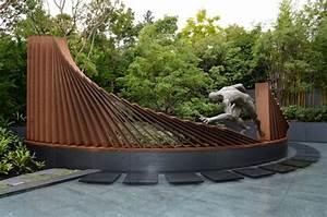 Statue Jardin Design : acier corten 50 id es de d co jardin tr s tendance ~ Dallasstarsshop.com Idées de Décoration