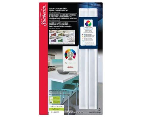 sunbeam 16 quot color changing led cabinet light kit 2