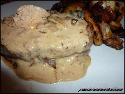 recette sauce champignon foie gras arome truffe