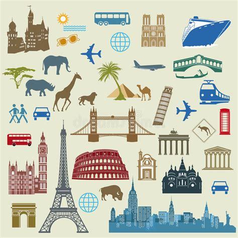 World Travel And Landmarks Stock Vector Illustration Of