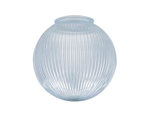 patriot lighting 4 quot fitter clear rib glass globe at menards 174