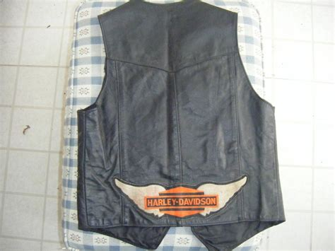 For Sale Men's Black Leather Vest