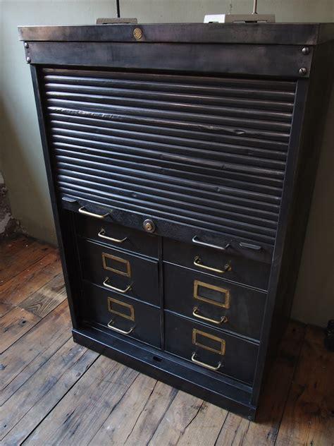 rare ancien meuble 8 tiroirs a rideau industriel roneo 1940