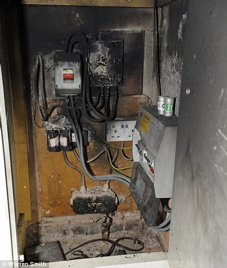 Burnt Breaker Fuse Box by Firefighters Called To 71 Homes After Power Surge