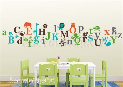 items similar to alphabet vinyl decal abc decal a