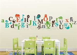 items similar to kids alphabet vinyl decal abc decal a With nursery letter decals