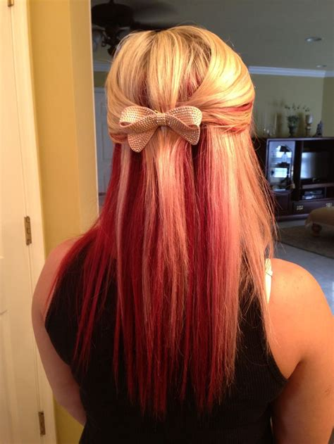 My Red And Blonde Hair Hair Color Pinterest Blonde