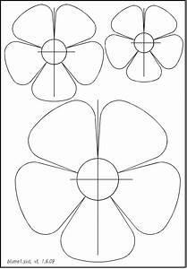 Blumen Basteln Vorlage : einfache blumen schablonen 01 allgemeine schablonen pinterest ~ Frokenaadalensverden.com Haus und Dekorationen