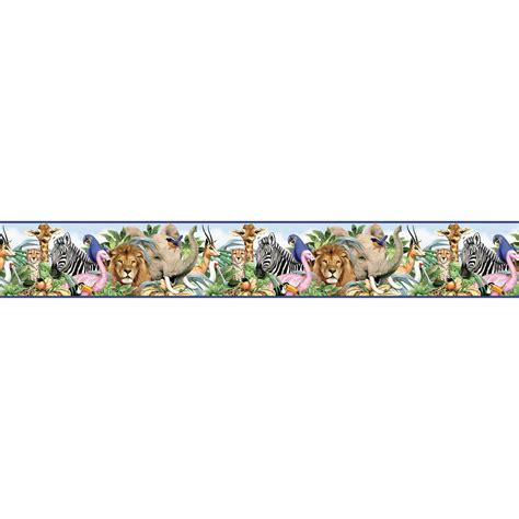 Baby Jungle Animals Wallpaper Border - baby jungle animals borders