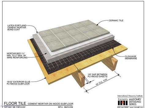 subfloor for tile laying tile on wood subfloor flooringpost