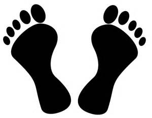 Foot Clip Art Black and White