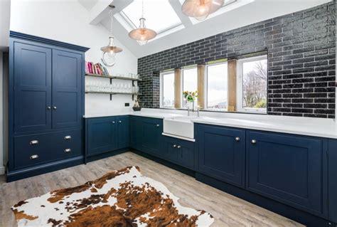 industrial blue kitchen lovewood kitchens
