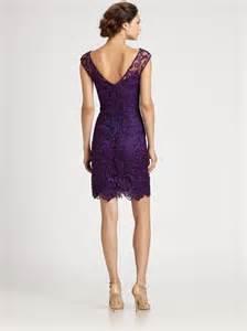 aidan mattox bridesmaid ml lhuillier lace dress in purple lyst